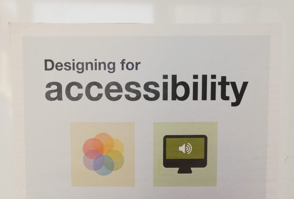 designing for accessibility poster