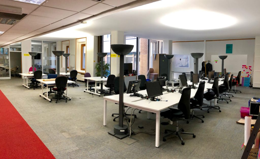 our new workig space in County Hall