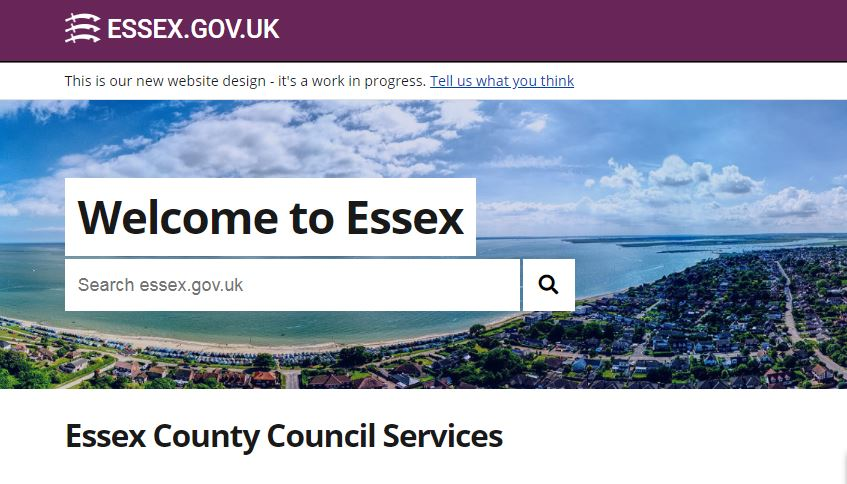 home page essex.gov.uk