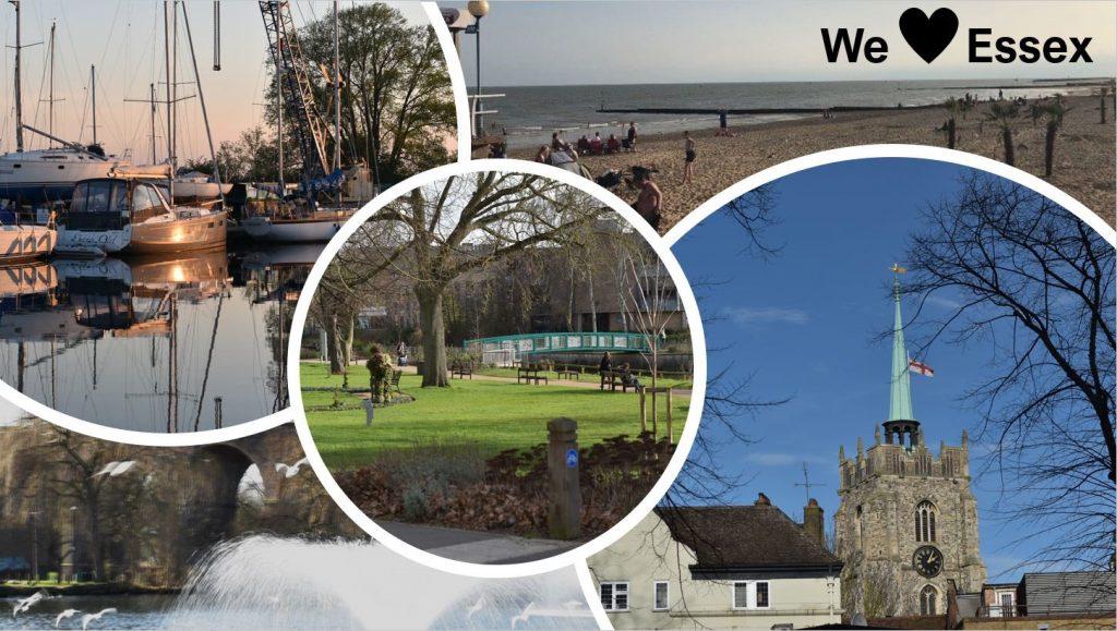 Postcard of Essex sights