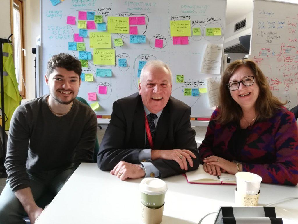 Councillor Madden with John Newton and Caroline McCabe