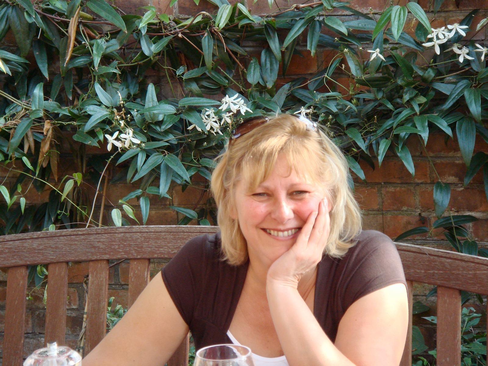 Laura in her garden
