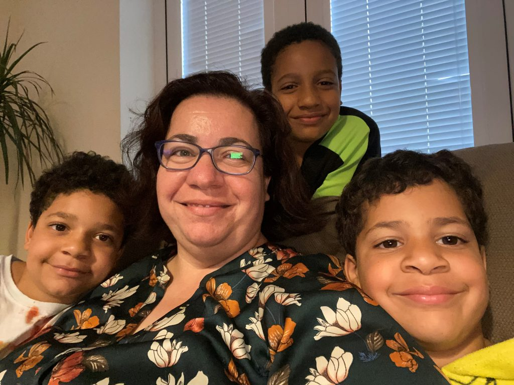 Maria Farres, Essex County Council at home with kids