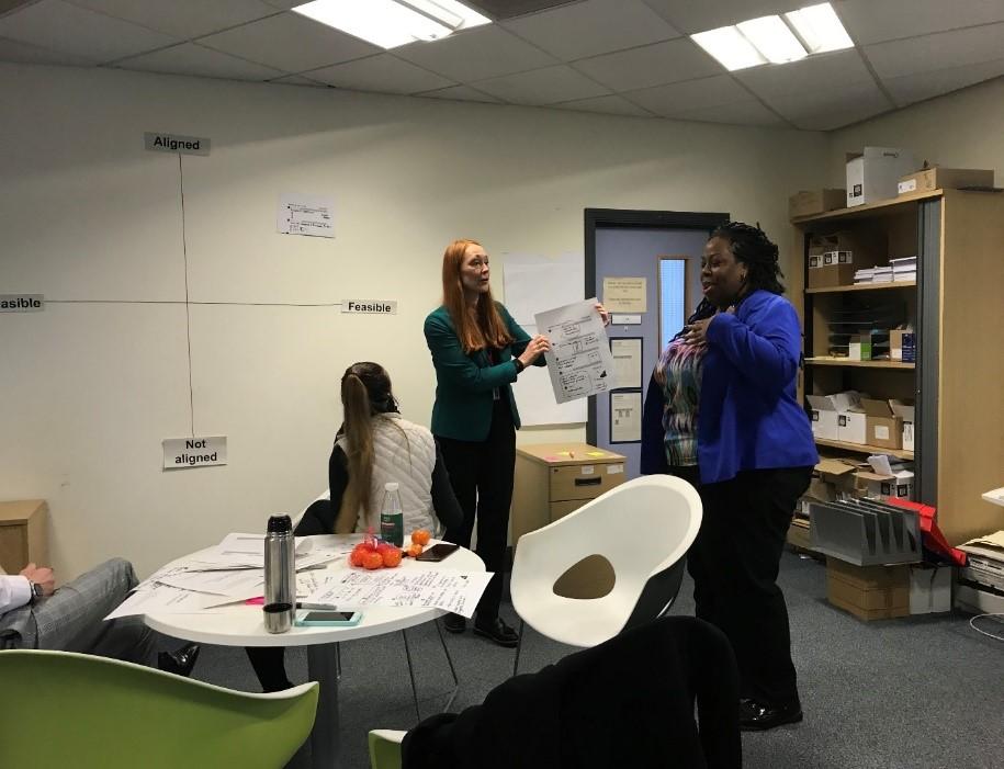 Workshop participants talking
