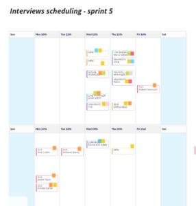 User Research Calendar for Interviews